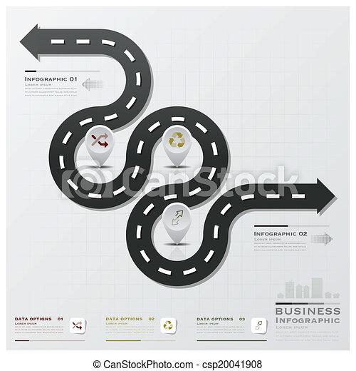 infographic, rua, estrada, negócio - csp20041908