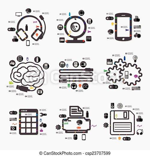 infographic, technologie - csp23707599