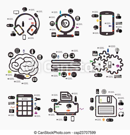 infographic, teknologi - csp23707599