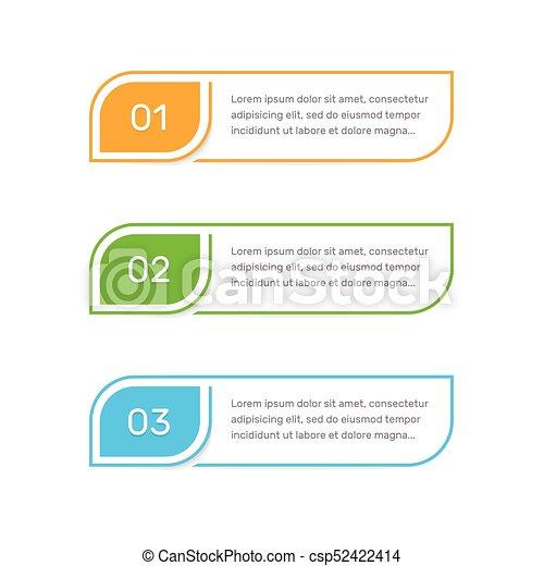 Elementos de pasos para la interfaz web. Elemento vectorial infógrafo. La plantilla abstracta infoográfica. - csp52422414