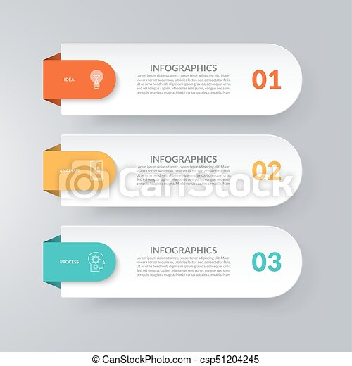 infographic template business concept with 3 options vector design