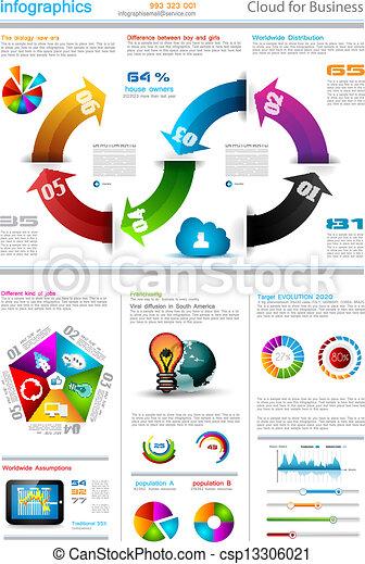 Infographic template design - Original geometrics - csp13306021