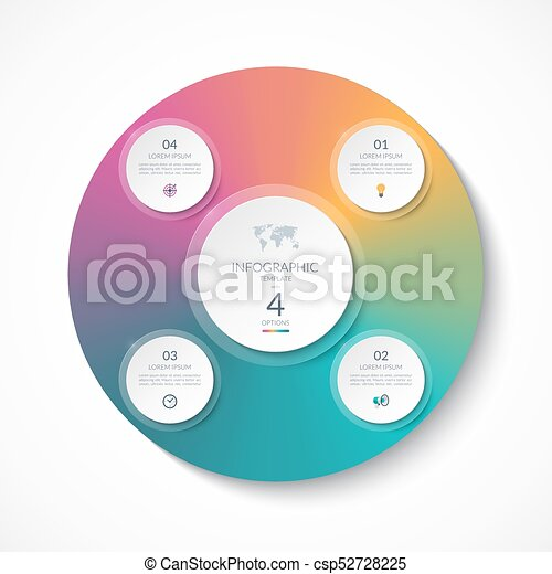 Infographic template with 4 circles options steps parts can be infographic template with 4 circles options steps parts can be used for ccuart Choice Image