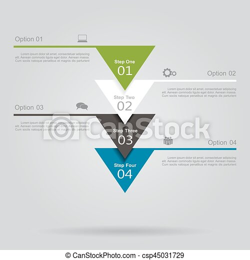 Infographic template with elements and icons. Vector illustration. - csp45031729