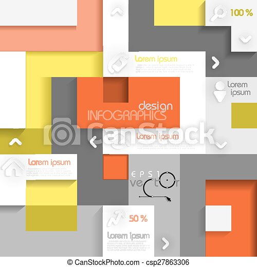 Infographic Template With Place For Your Content. Vector Illustration. Eps 10. - csp27863306
