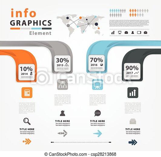 Infographic vector template design - csp28213868