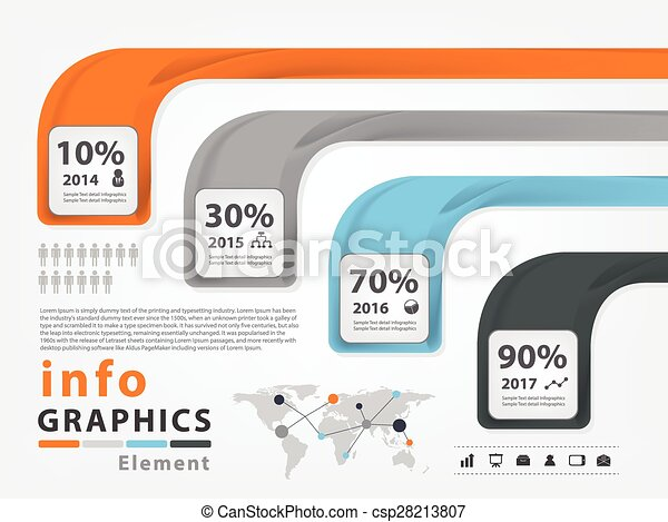 Infographic vector template design - csp28213807