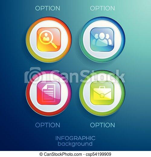 Infographic Web Design Collection - csp54199909