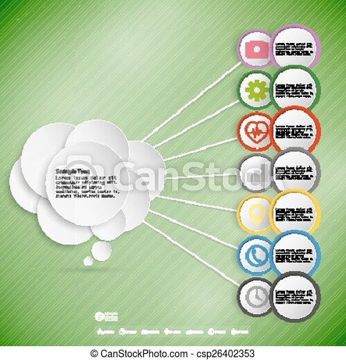 Infographic with colored circles for business, template vector - csp26402353