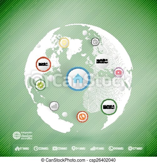 Infographic with colored circles for business, template vector - csp26402040