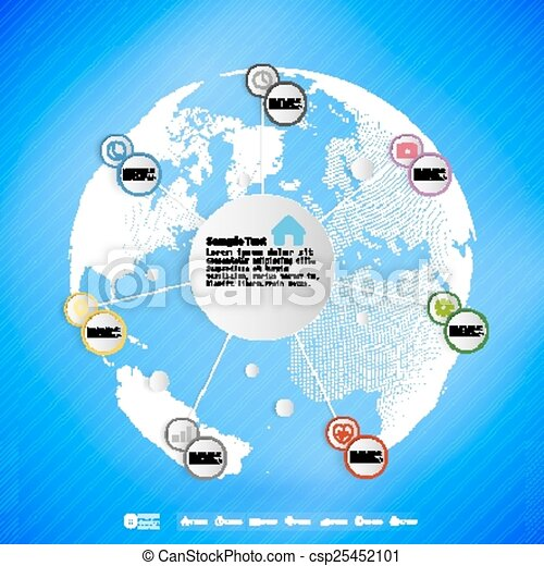 Infographic with colored circles for business, template vector - csp25452101
