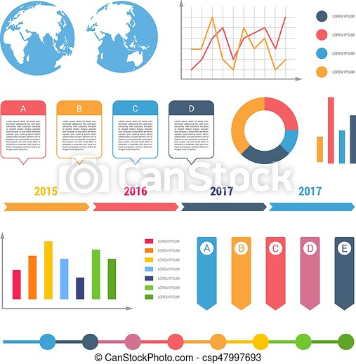 Infographic Workflow Diagrams Timeline Steps Chart Table Text Box