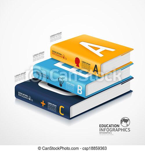 infographic, zijn, concept, illustratie, globe, moderne, /, gebruikt, vector, groenteblik, mal, infographics, banieren, spandoek, boek - csp18859363