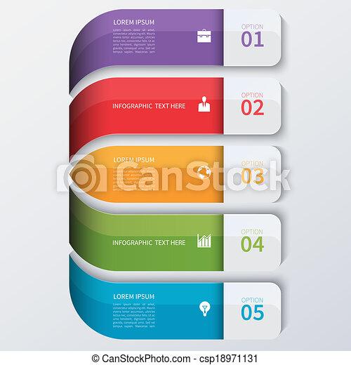 infographics, 現代, オプション, ビジネス, banner. - csp18971131