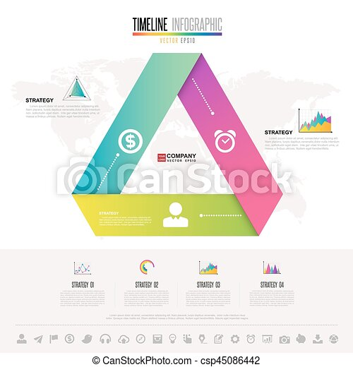 infographics design template with icons set vector eps10