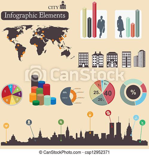 Infographics elements. City - csp12952371