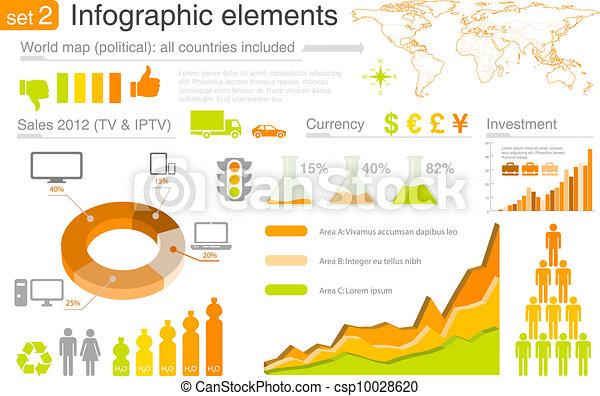 infographics, elements:, multicolor - csp10028620