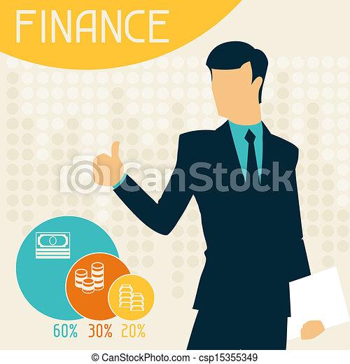 infographics., finanças - csp15355349