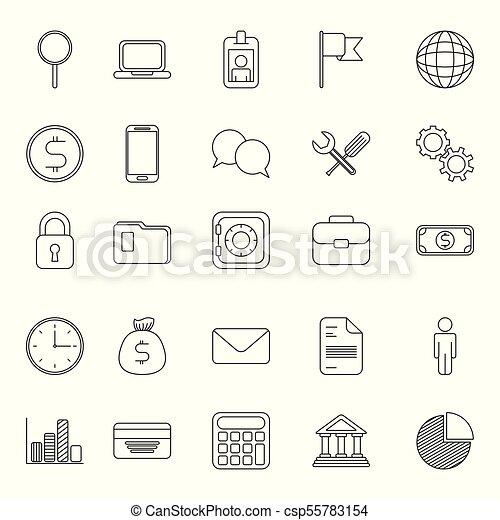 infographics, mal, iconen - csp55783154