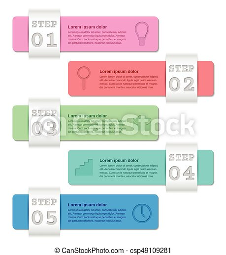 Infographics Templates | Infographics Templates 5 Steps Business Concept Infographics