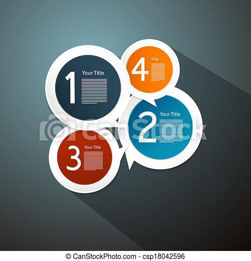 infographics, vecteur, étapes, progrès, travaux pratiques - csp18042596
