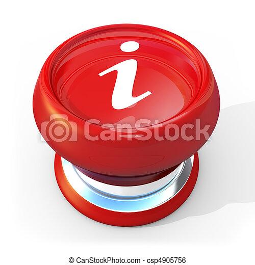informação, botão - csp4905756