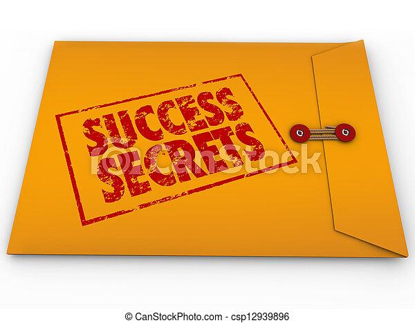 Secretos de éxito ganando información clasificada - csp12939896