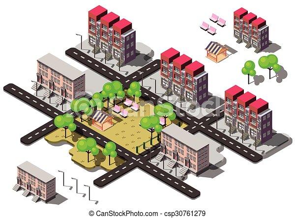 La ilustración del concepto de ciudad urbana gráfica - csp30761279