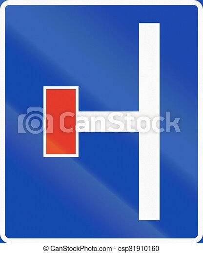Señal de información noruega, callejón sin salida a la izquierda - csp31910160