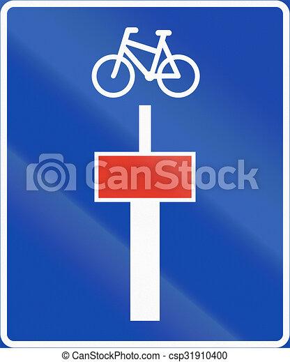 Señal de información noruega, callejón sin salida para vehículos motorizados - csp31910400