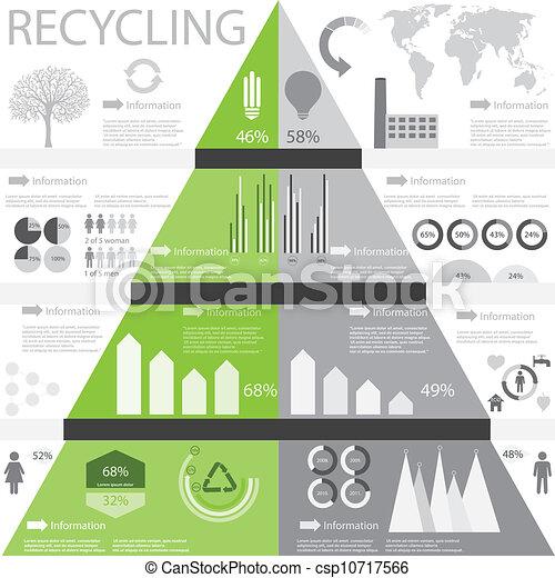 Información de reciclaje gráfica - csp10717566