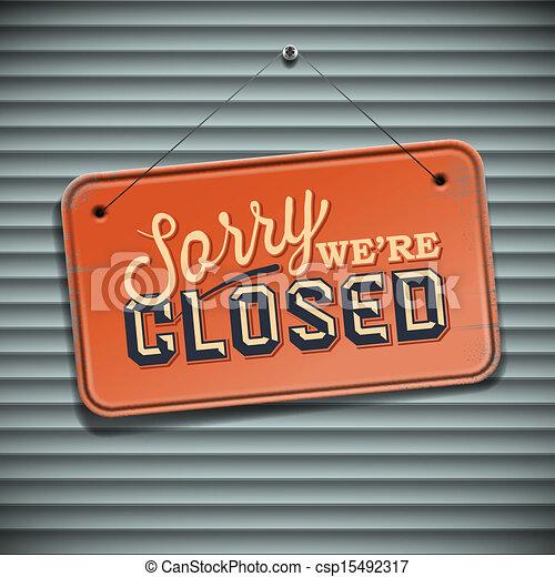 Somos Signos Cerrados, signo antiguo con información - csp15492317