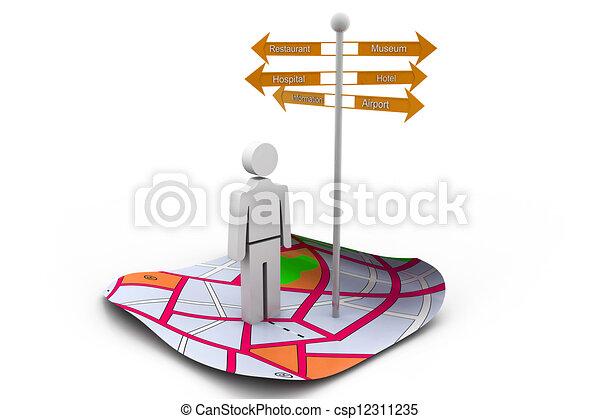 Información turística - csp12311235