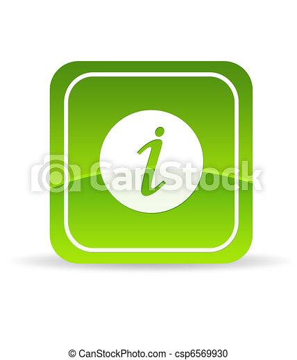 Un icono de información verde - csp6569930