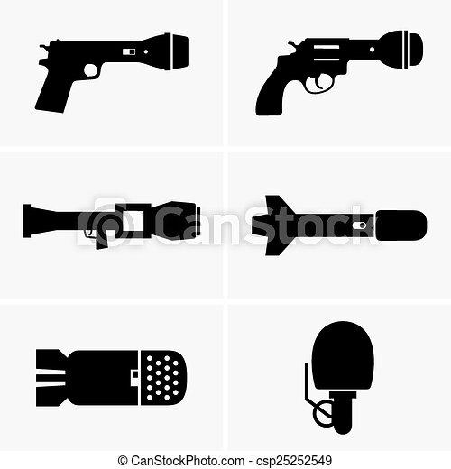 informacja, broń, wojny - csp25252549