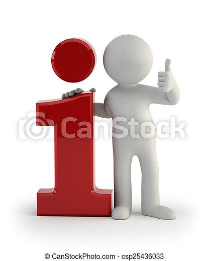 informacja, ludzie, -, mały, ikona, 3d - csp25436033