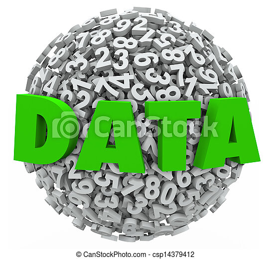 informacja, słowo, wyniki, praca badawcza, kula, liczba, jawność, dane - csp14379412