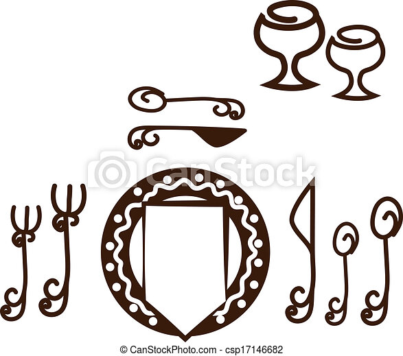 informal table setting placement artistic design tableware rh canstockphoto com table place setting clipart