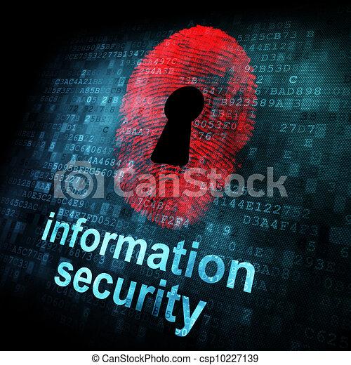 informatie, scherm, digitale , veiligheid, vingerafdruk - csp10227139