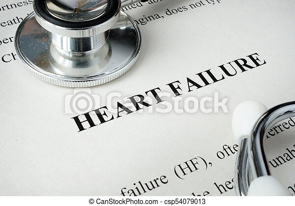 Information about Heart failure and glasses. - csp54079013