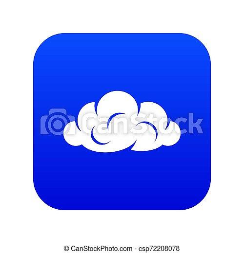 Information cloud icon blue - csp72208078
