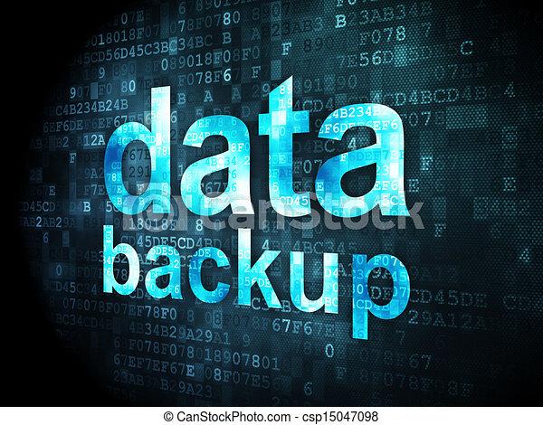 Information concept: Data Backup on digital background - csp15047098