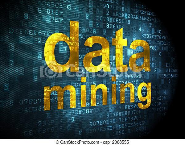 Information concept: data mining on digital background - csp12068555