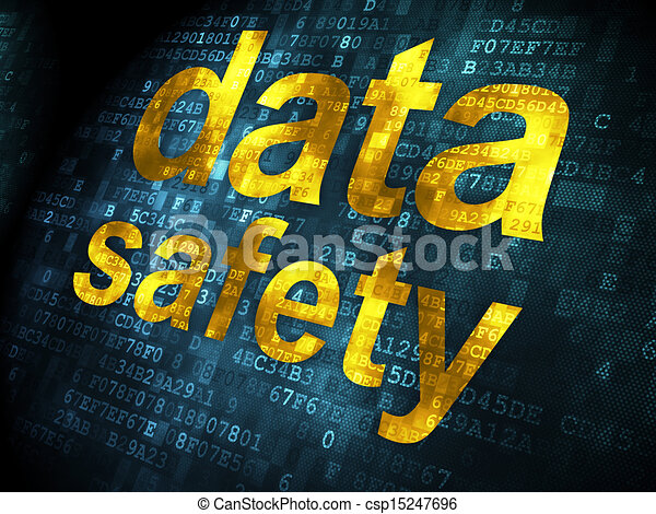 Information concept: Data Safety on digital background - csp15247696