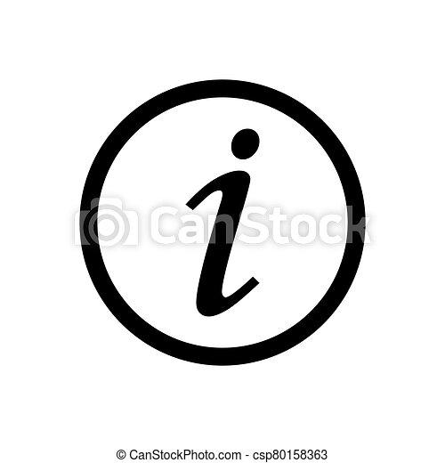 Information icon vector for graphic design, logo, web site, social media, mobile app, ui illustration - csp80158363