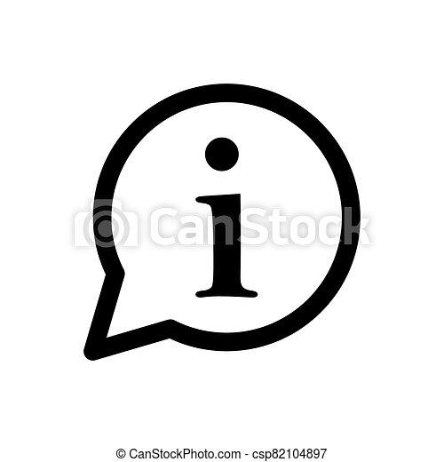 Information icon vector for graphic design, logo, web site, social media, mobile app, ui illustration - csp82104897