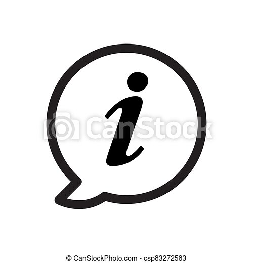 Information icon vector for graphic design, logo, web site, social media, mobile app, ui illustration - csp83272583