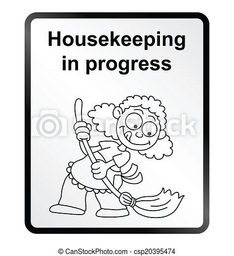 information, ménage, signe - csp20395474