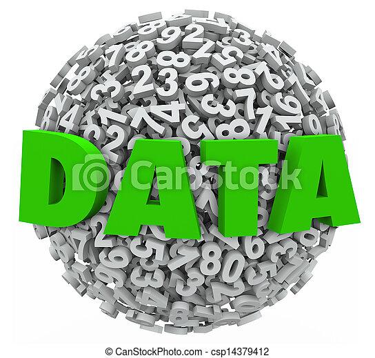 information, mot, résultats, recherche, sphère, nombre, évidence, données - csp14379412
