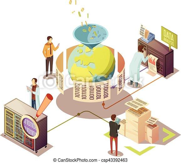 Information Processing Isometric Design - csp43392463